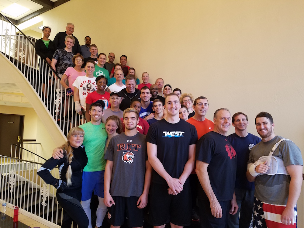 Each Thanksgiving we host a workout.  Here is a picture of Nancy with our extended family.  Choose to make your health and fitness a priority year-round.